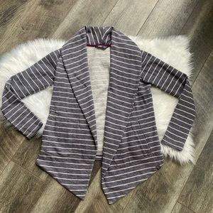 The North Face Striped Knit Open Front Blazer S